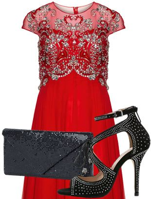 """""""Lady In Red"""" Outfit ab Größe 42 
