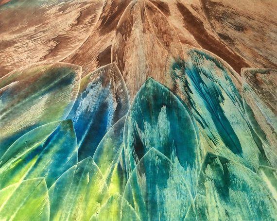 encaustic painting // 8x10 // original art // by MonsoonCalamity