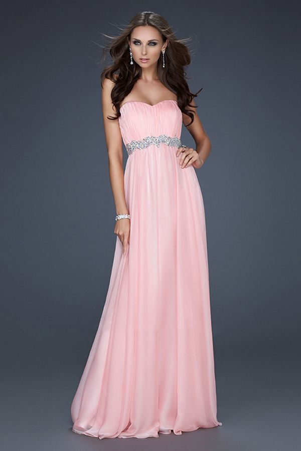 Candy Pink Floor Length Prom Dresses For Cheap | dresses ...