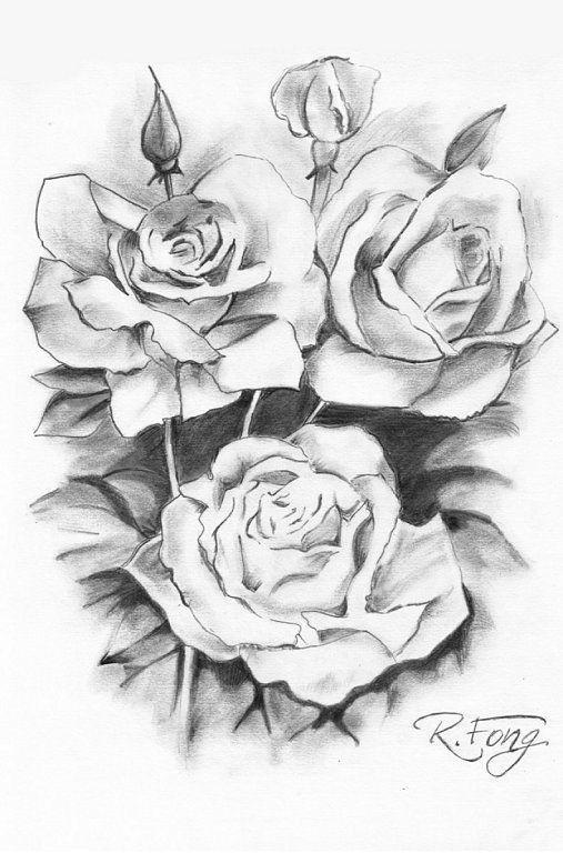 Rosas Para Dibujar A Lapiz Faciles Para Dedicar Dibujos Desenhos Sombreados Desenho Desenhos