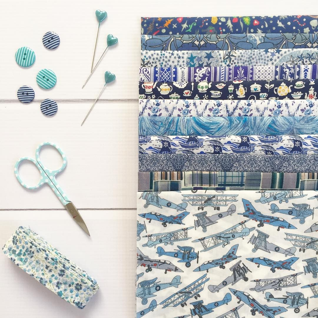 "This beautiful Loves Liberty Club bundle titled ""Little Boy Blue"" is certainly my favourite so far. There was even some Liberty bias included to create with - Thanks to @tiedwitharibbon! #myliberty"