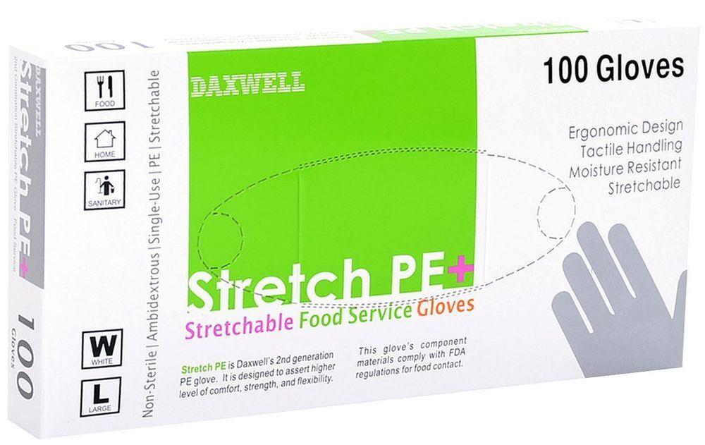 Daxwell f10000223b large white stretch polyethylene food