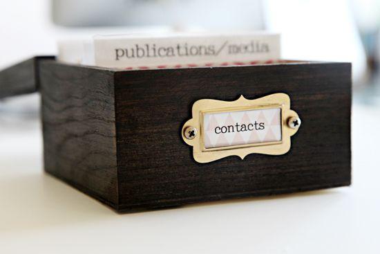 75 Diy Business Card Organization Crafts Pinterest