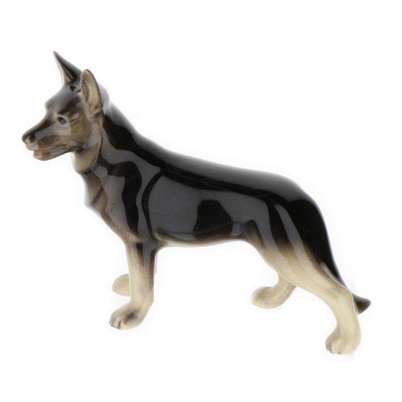 German Shepherd Standing Miniature Dog Figurine Handmade In Usa By