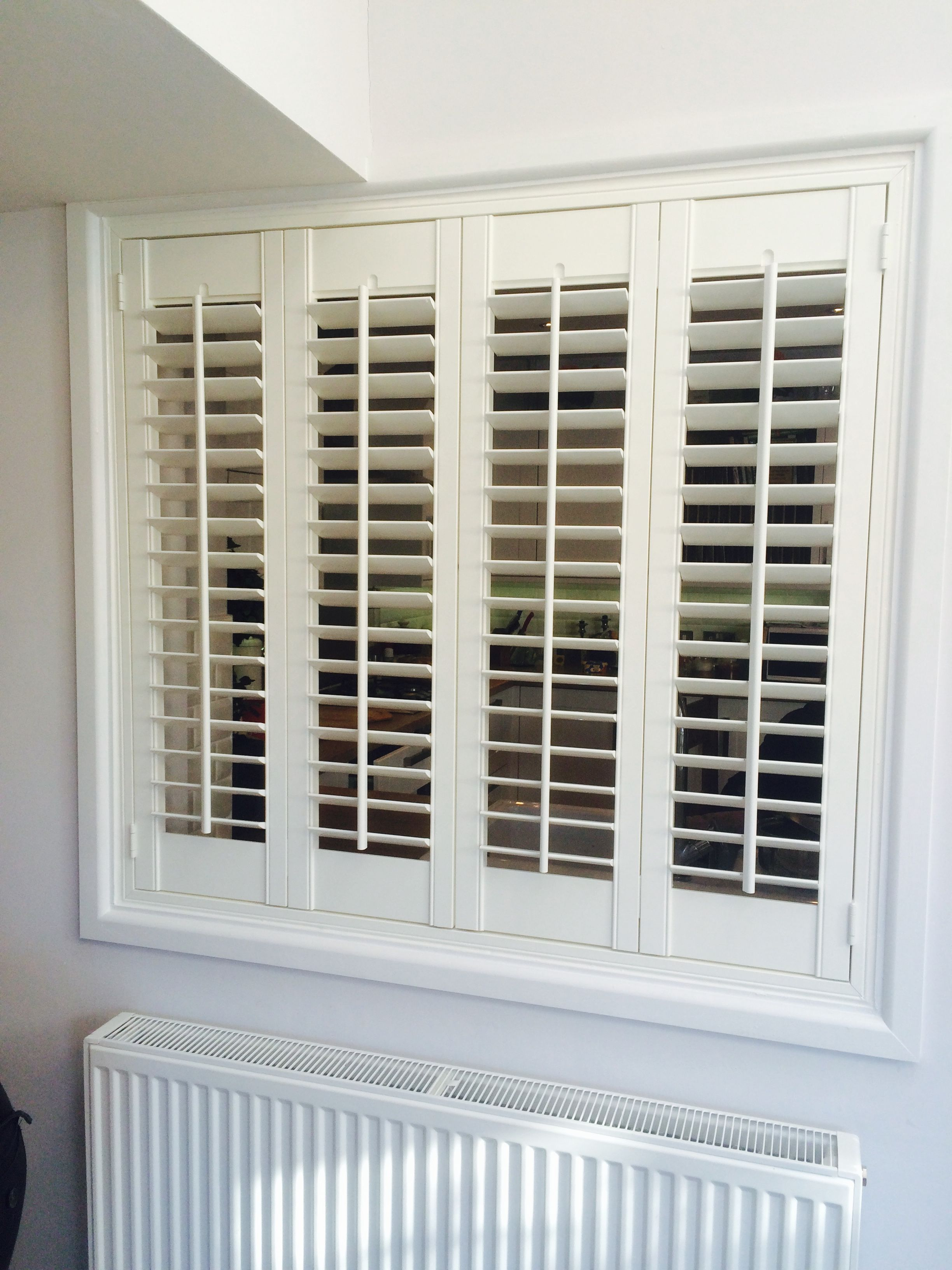 This shutter was used to fill an internal space / serving hatch ...