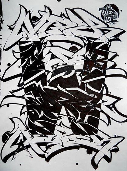 Wuper scrapboard different artworks pinterest graffiti calligraphie and lettre graffiti - Lettre graffiti alphabet ...