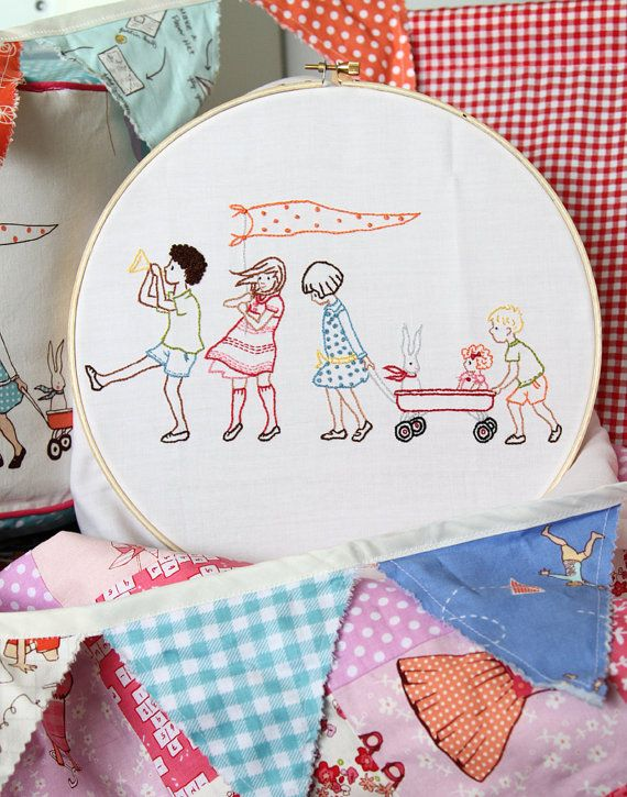 Embroidery Pattern PDF On Parade by sarahjanestudios on Etsy ...
