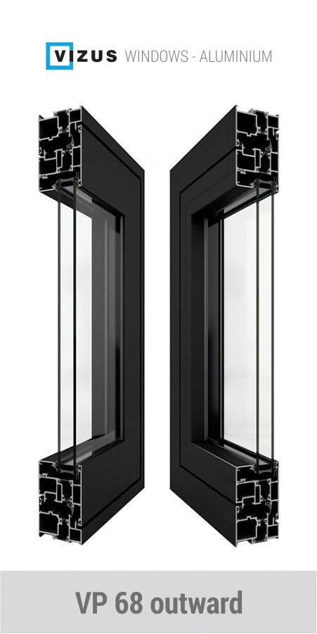 Vp 68 Outward Aluminum Windows And Balcony Doors With Outward