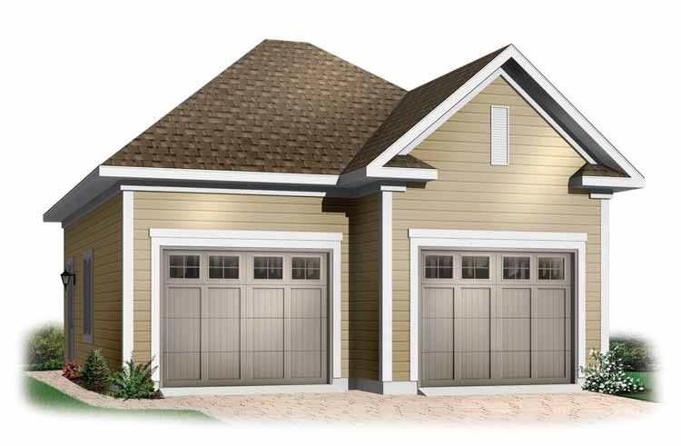 Traditional Style House Plan 0 Beds 0 Baths 741 Sq Ft Plan 23 433 Two Car Garage Garage Plans Garage Plans Detached