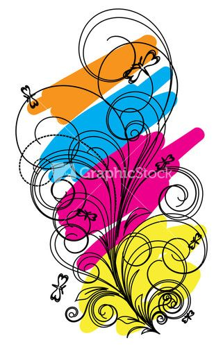 Abstract Decorative Floral Design