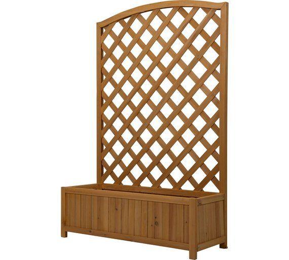 buy lattice wooden planter large at visit. Black Bedroom Furniture Sets. Home Design Ideas
