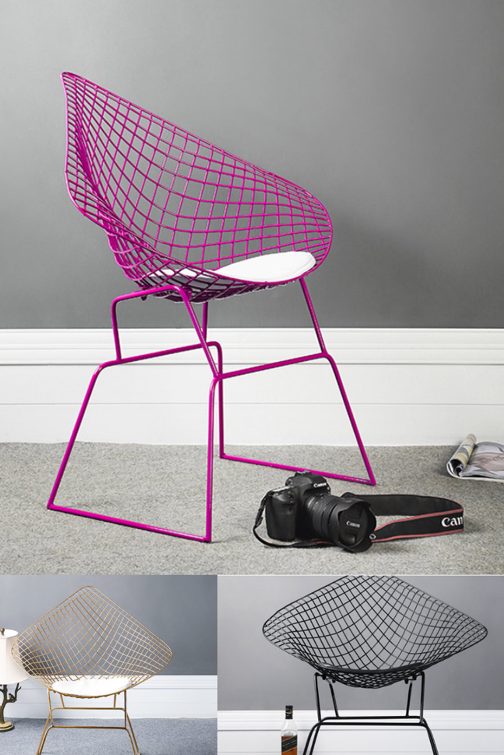 Purple Wire Chair | Office Chair | Living Room | Living ...