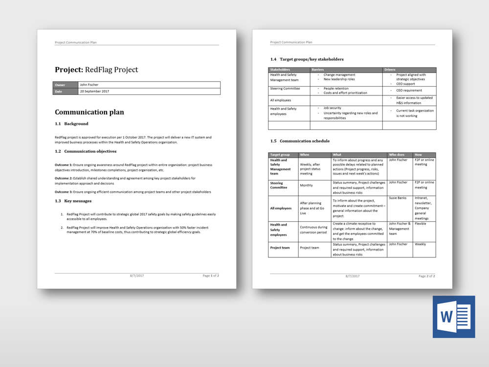 Check Out This New Simple Project Communication Plan Template At