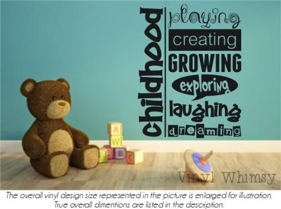 Childhood Playing Creating Growing Exploring Laughing Dreaming