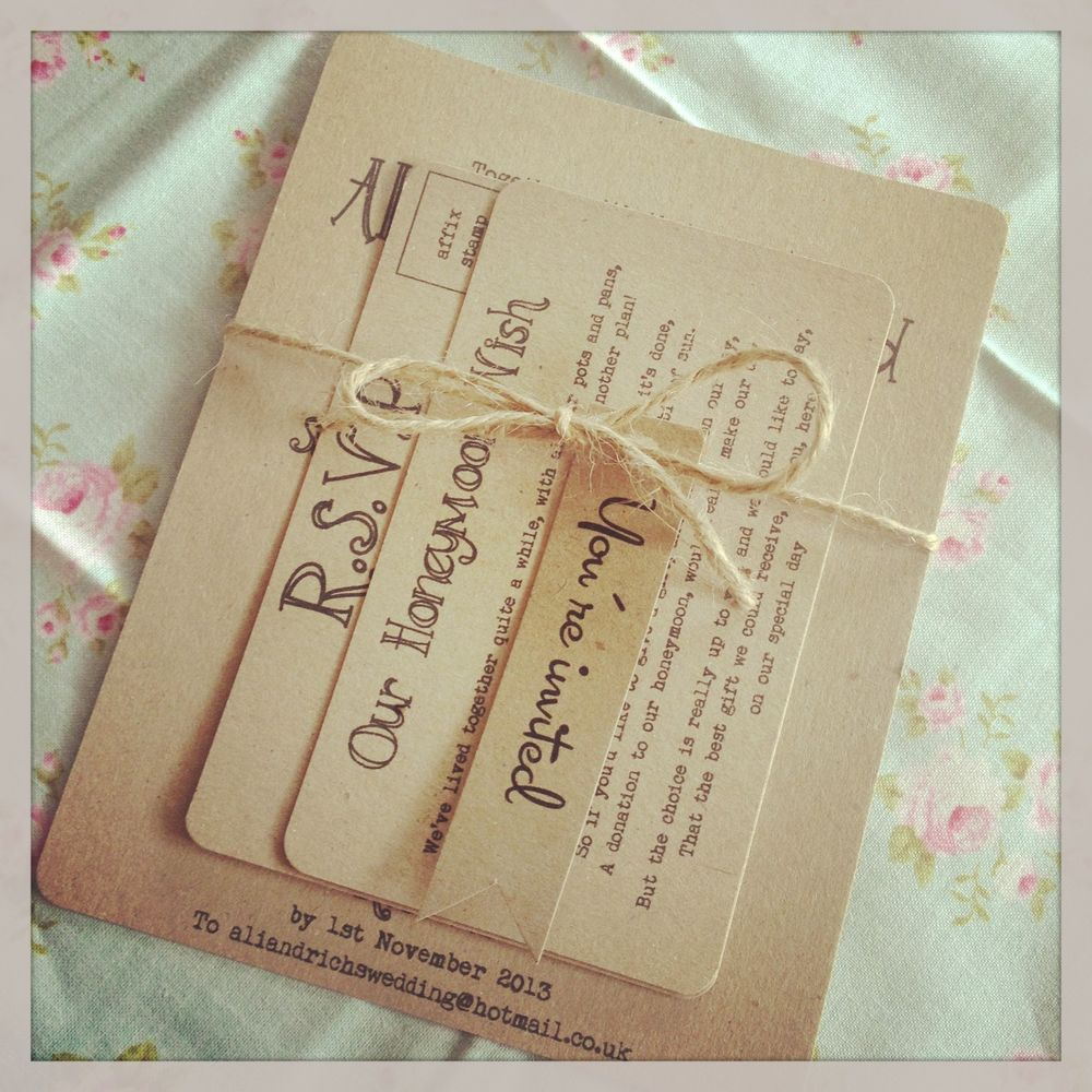 rusticvintageshabby chic ukraftu bundle wedding invitation