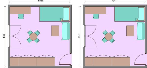 Kids Bedroom Dimensions, Kids Room Dimensions,