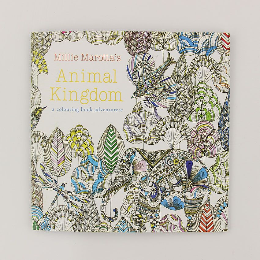 24 pages animal kingdom english edition coloring book for children adult relieve stress kill time painting - Coloring Book Paper Type