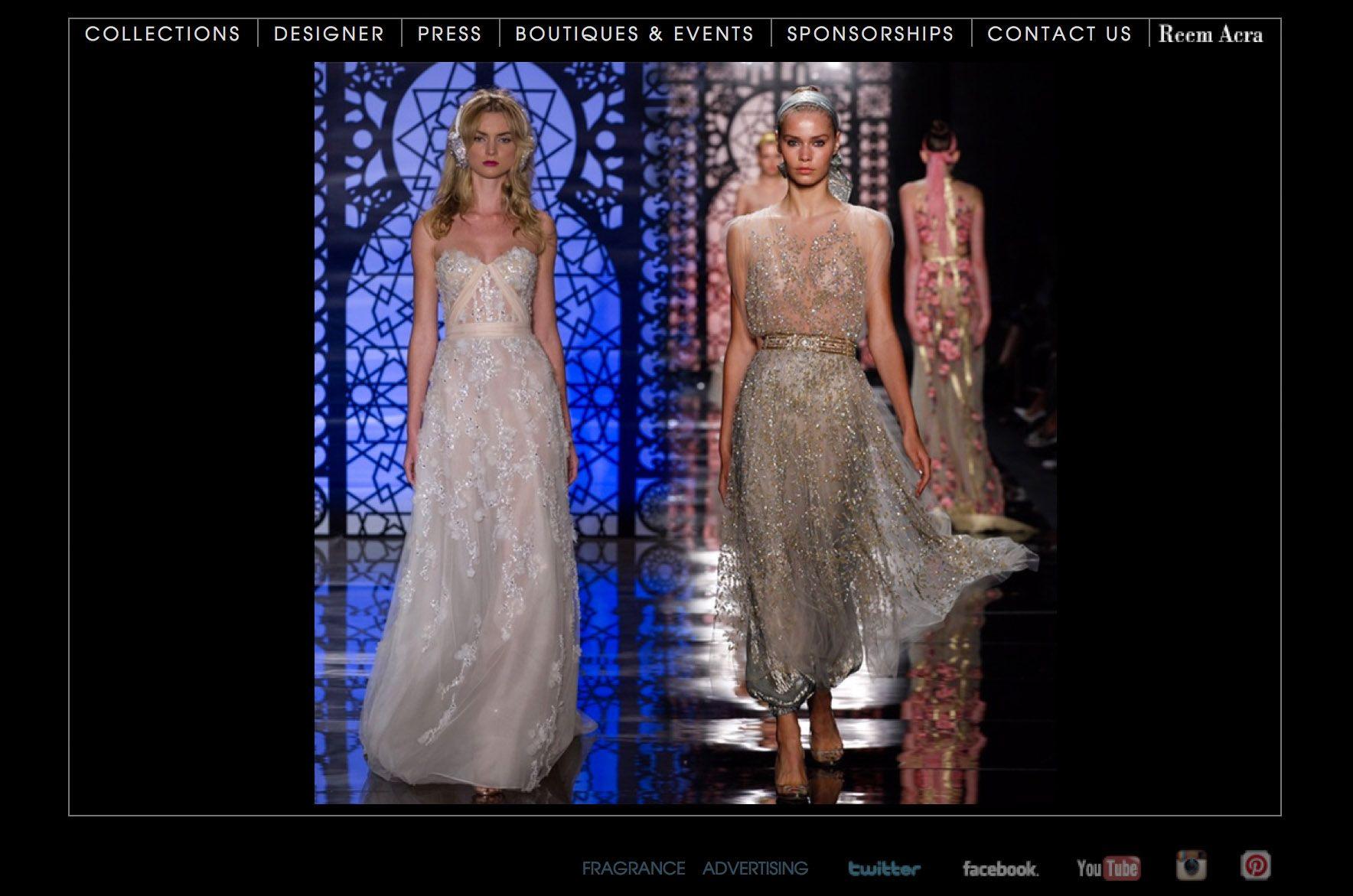 Reem acra wedding dress designer bridal wedding dress designer