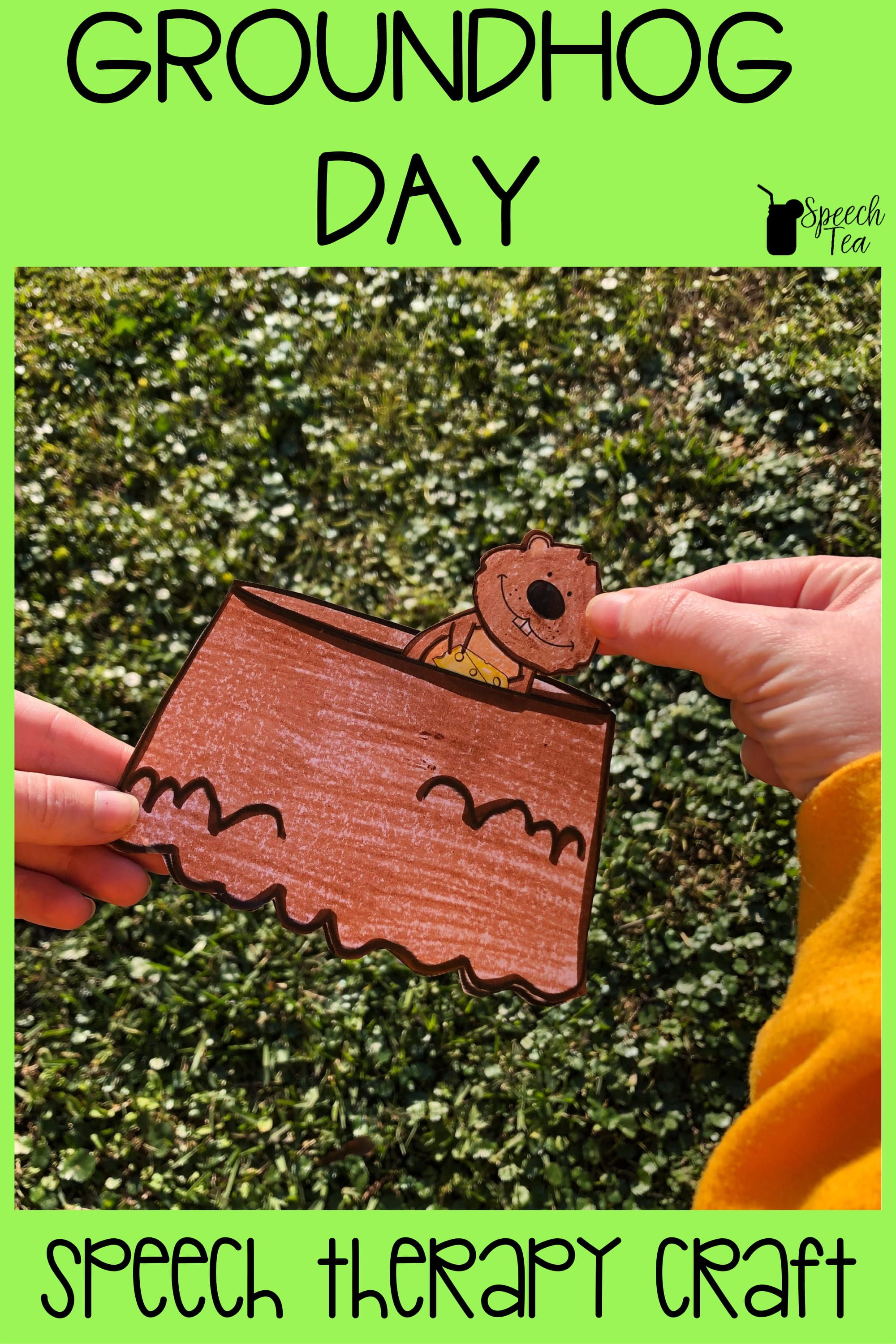 Groundhog Day Speech Therapy Craft For Your Students With Articulation Goals This