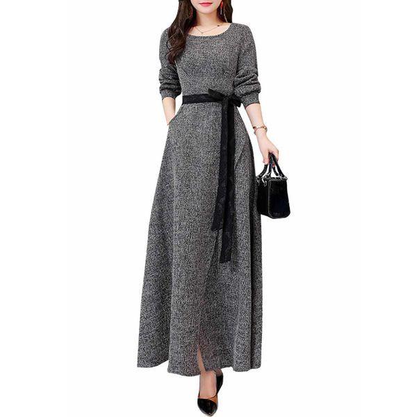 Solid Long Sleeve Maxi X Line Dress 1955363887 Dresses Leotard Fashion Fashion Dresses