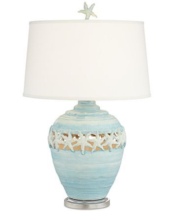 Photo of Pacific Coast Blue Starfish Table Lamp