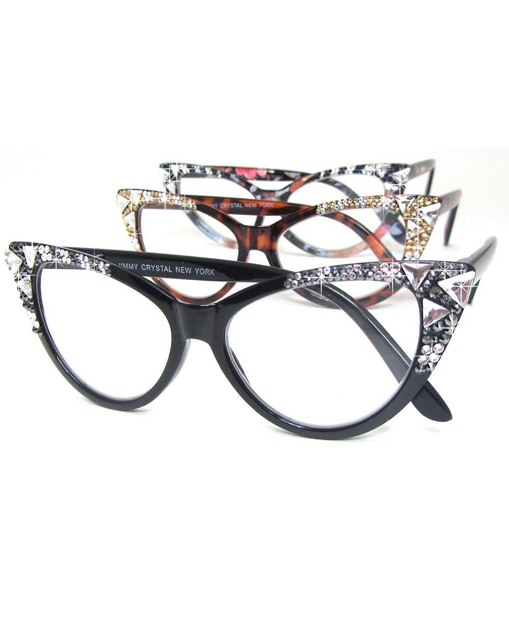 9006b4287a GORGEOUS new Jimmy Crystal brand cat eye reading glasses. Oh. My. GOSH.   JimmyCrystal  fashionOver40  fashionOver50  designerReadingGlasses ...