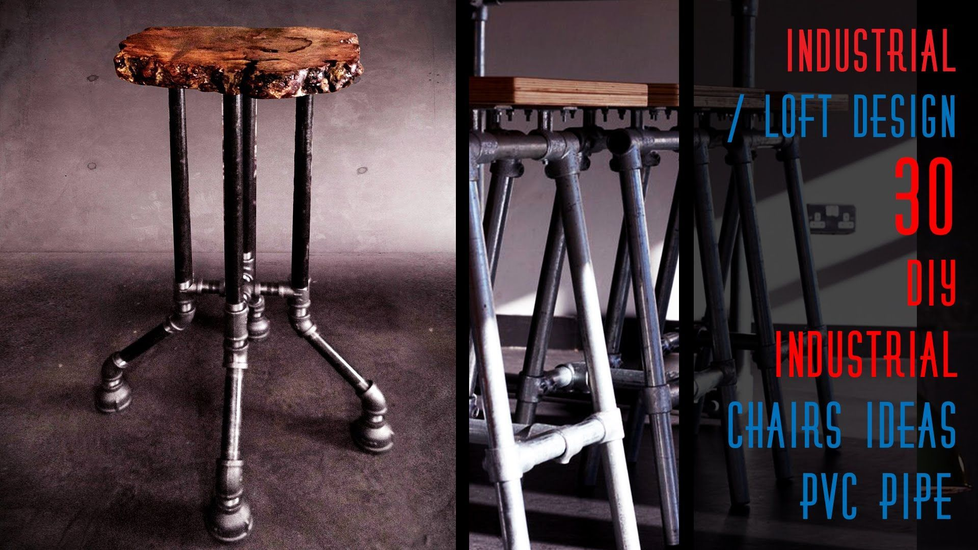 30 Diy Industrial Chairs Ideas Pvc Pipe There Is Something