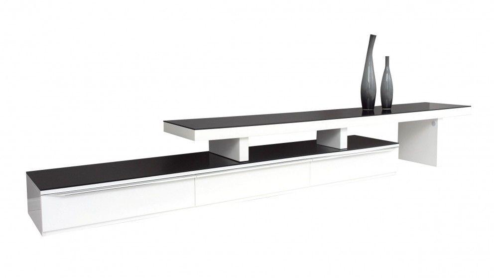 Felix 2400mm entertainment unit white tv units - Harvey norman living room furniture ...