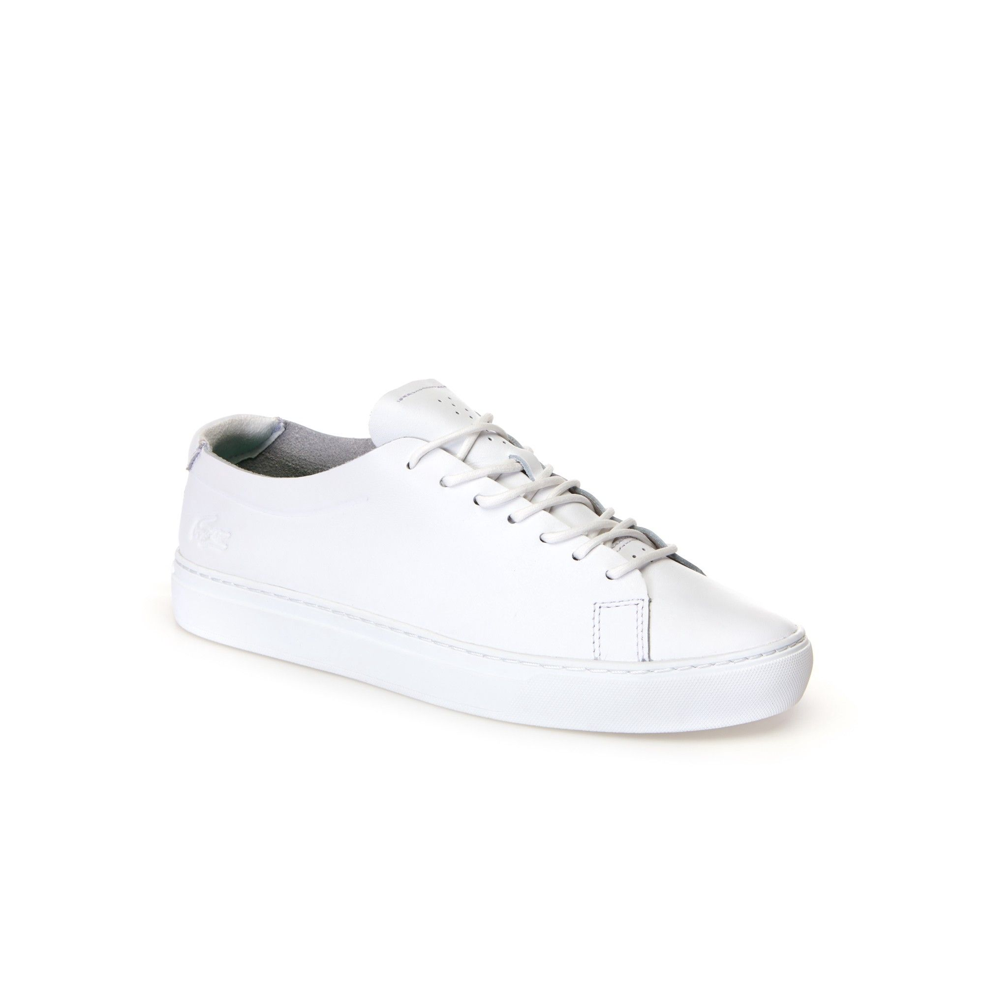 f651f918421ca Lacoste Men S L.12.12 Unlined Aniline Leather Trainers - 11.5