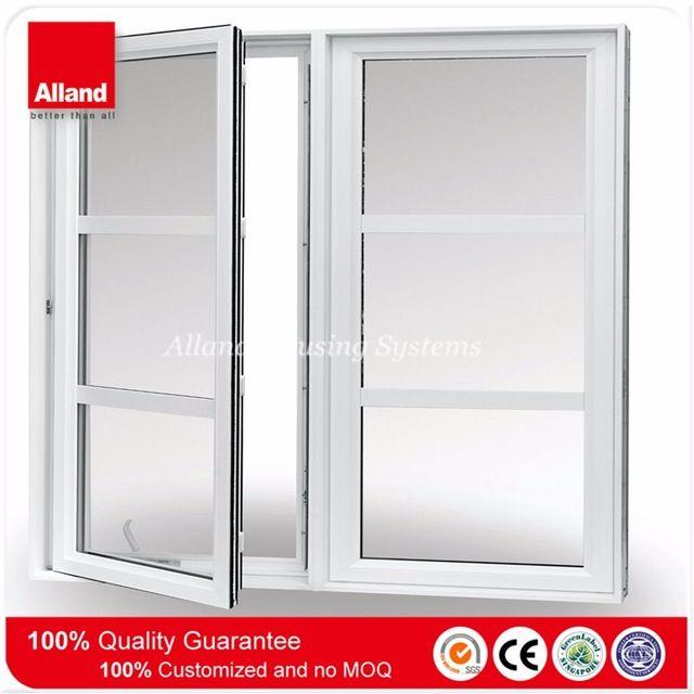 De color blanco de doble vidrio vinilo ventanas abatibles - Ventanas doble cristal ...