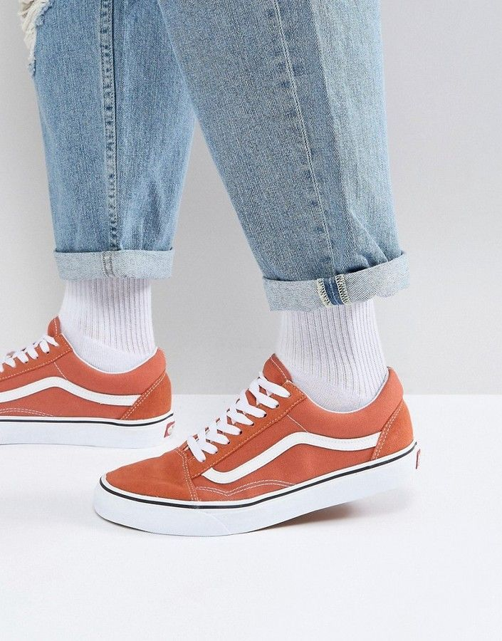 a79d5927389787 ... men s fashion online. Vans Old Skool Sneakers In Orange VA38G1QSP