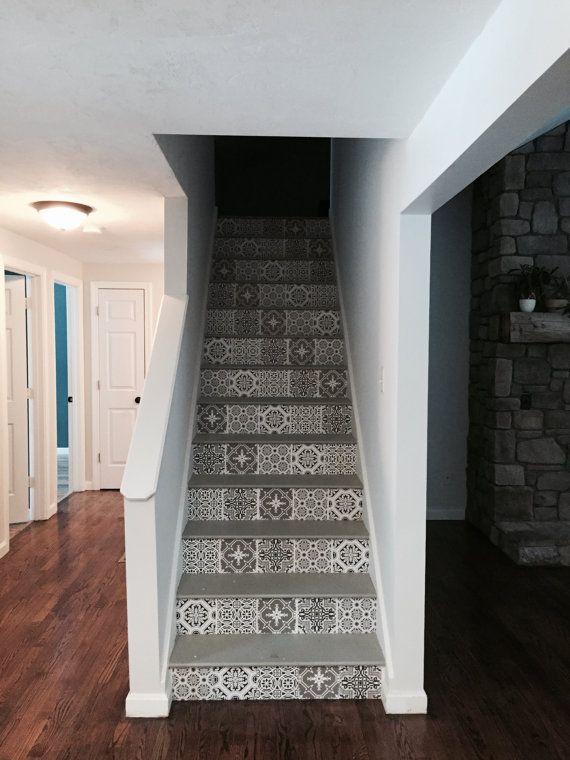 Salle de bain cuisine escalier Elévateurs tuile par SnazzyDecal