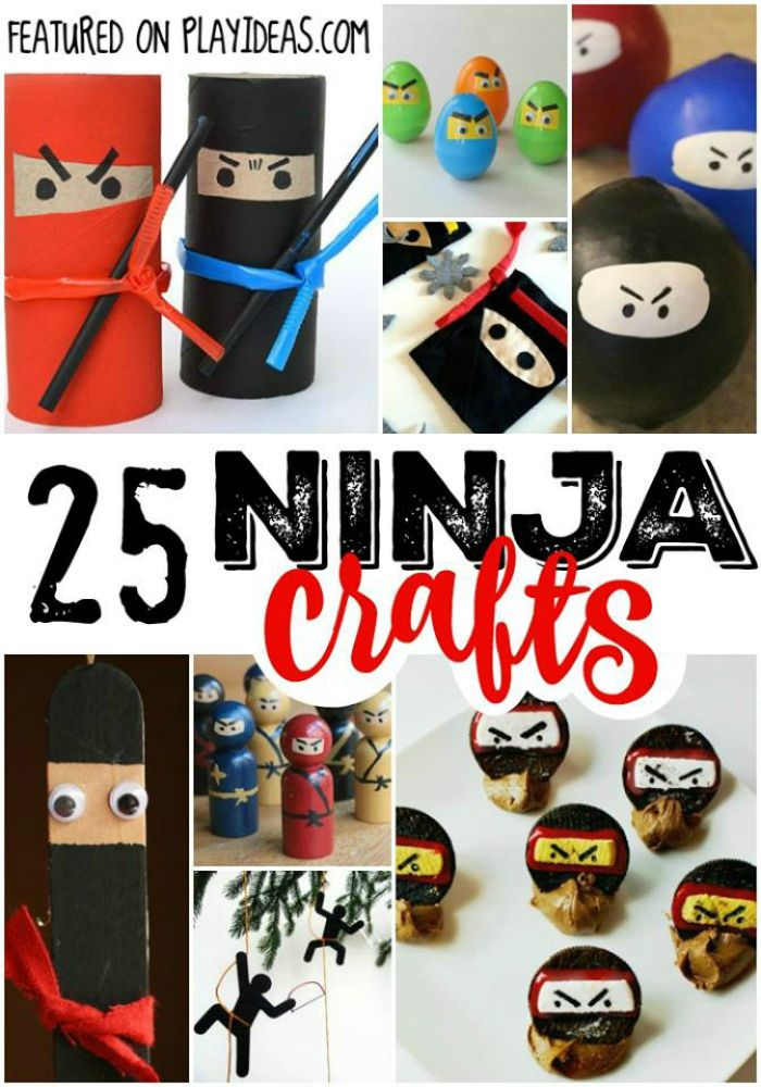 25 Stealthy Ninja Crafts for Kids | Crafts for kids, Crafts