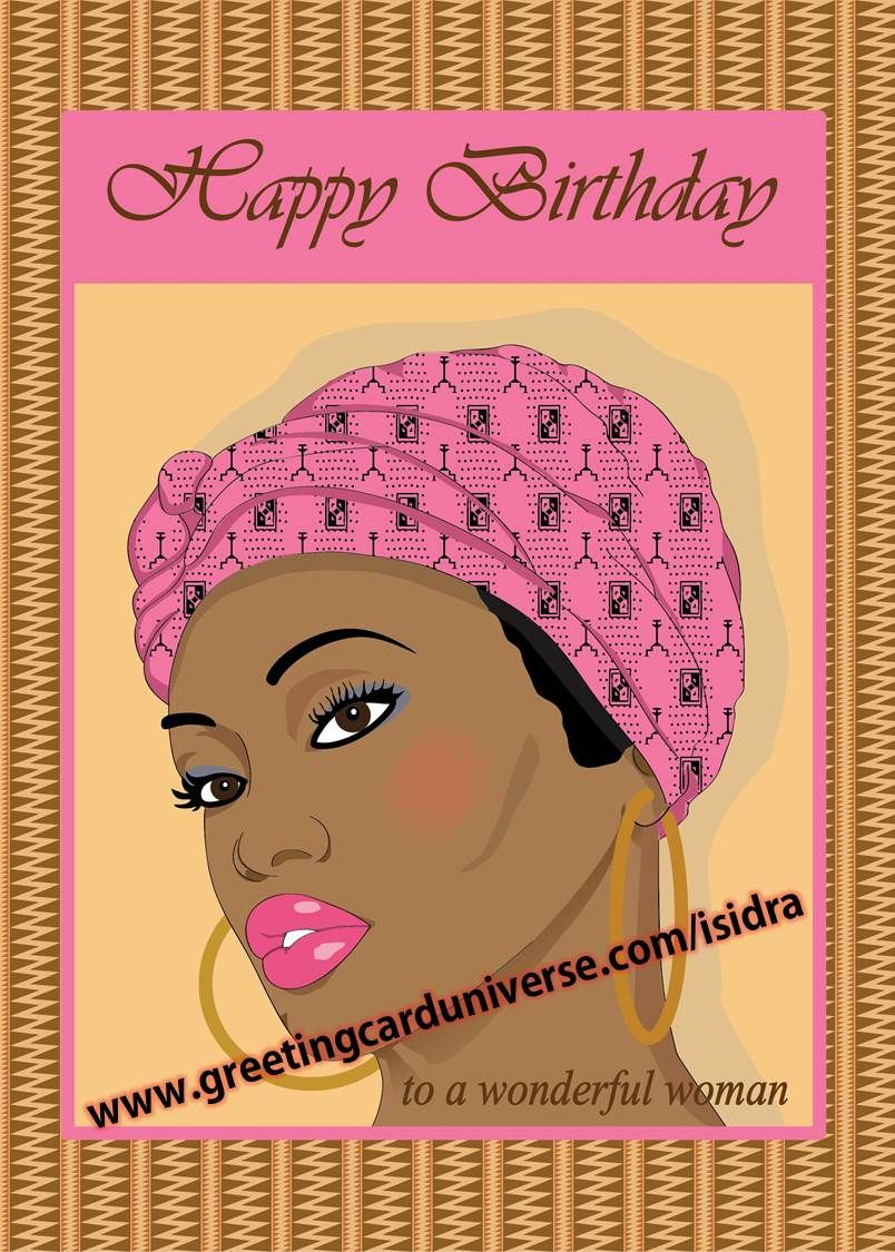 Birthday Card For Women To A Wonderful Woman With Headscarf Card