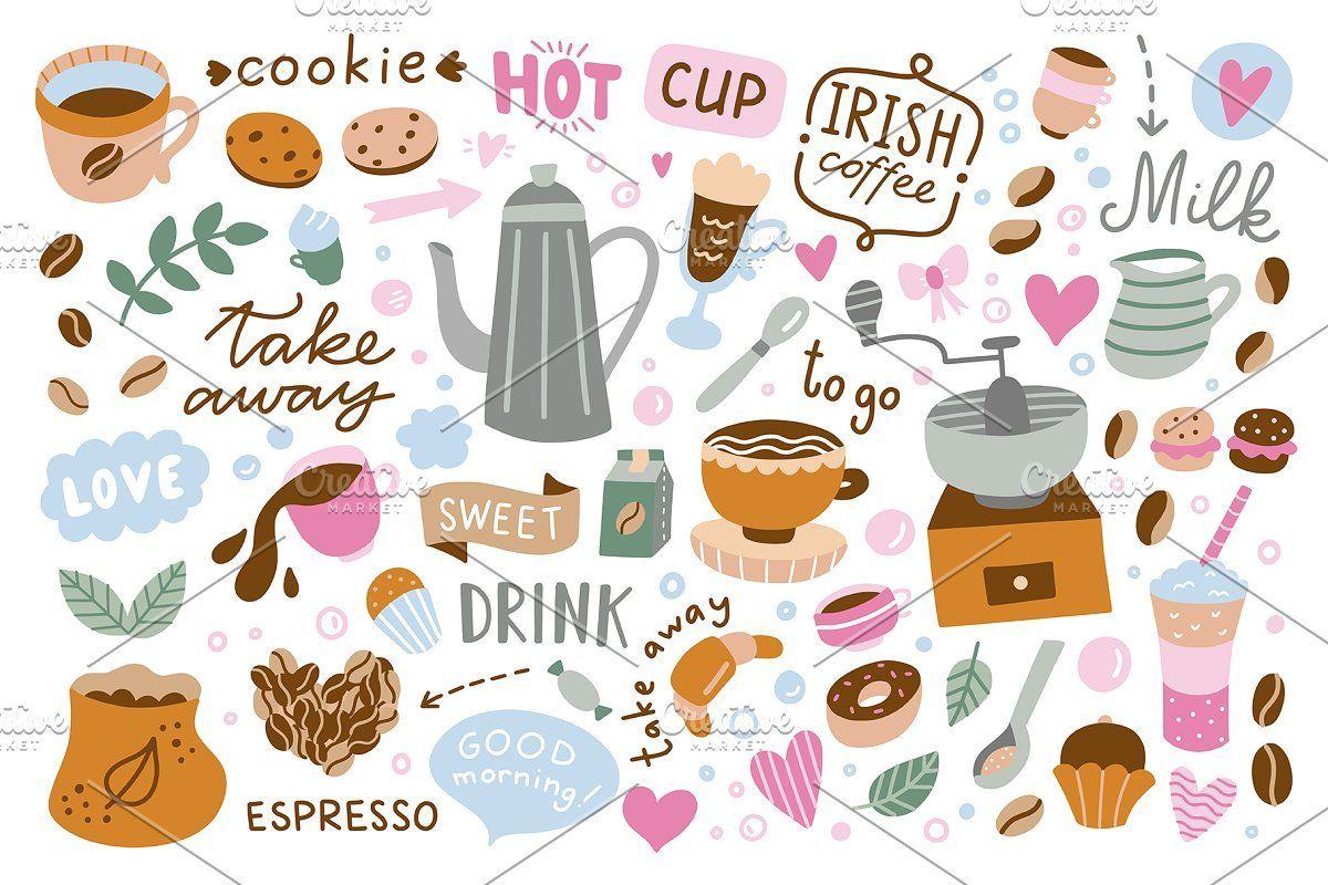 Photo of Coffee Illustrations & Patterns , #Sponsored, #sweet#desserts#illustrations#love…