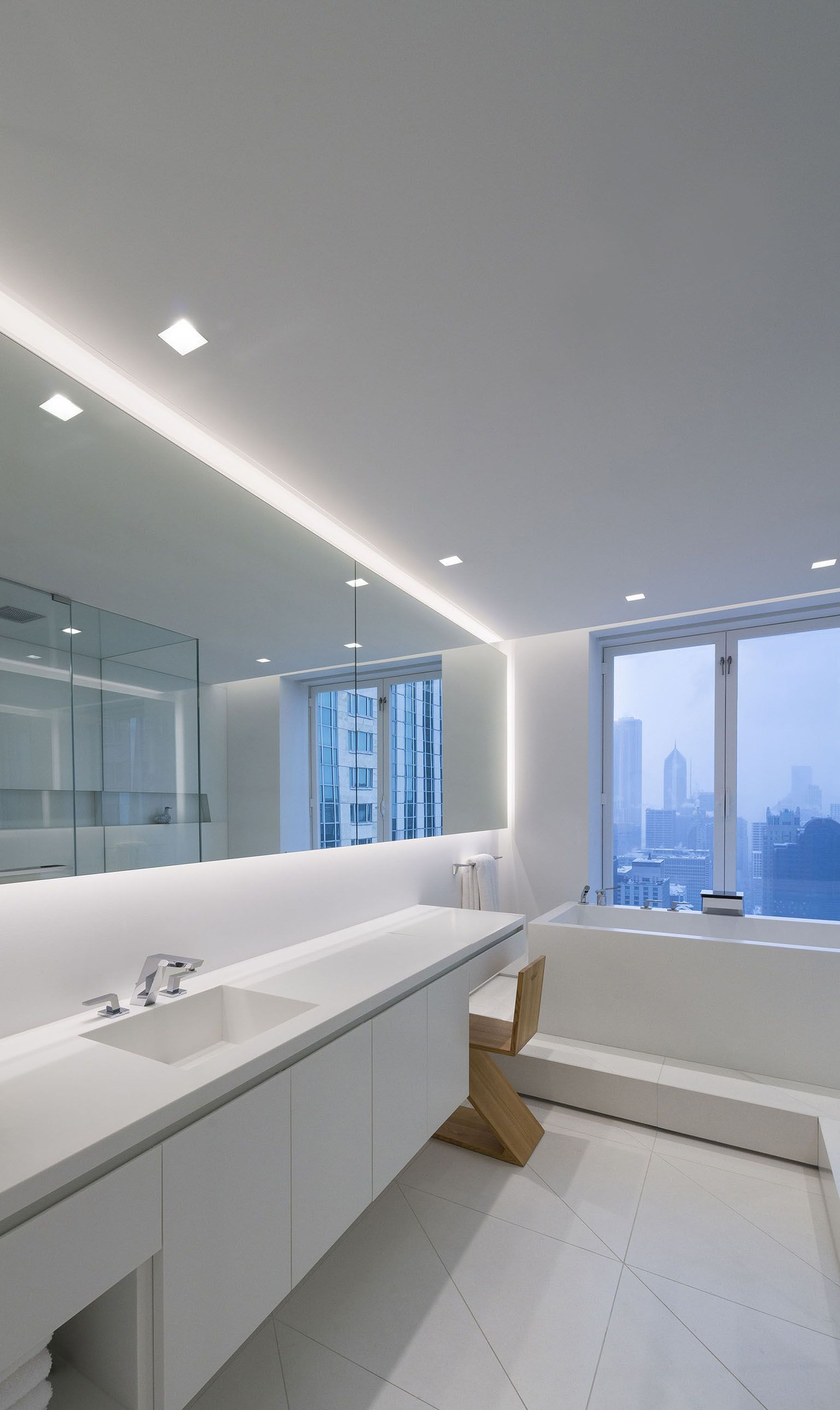 A Lighting Idea For Contempporary Bathrooms Modern Led Lighting For The Bathroom Aurora Square