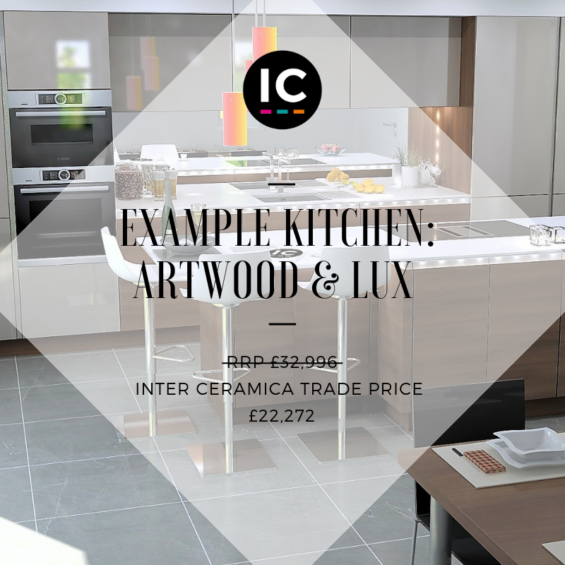 Take a look at our example kitchen design, a beautiful