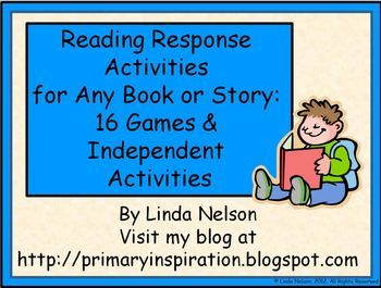 $   Sixteen literacy center activities that can be used with any book or basal story