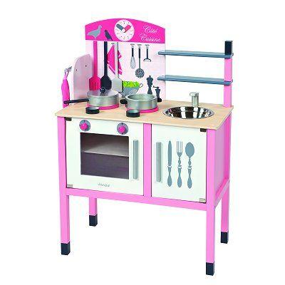 cuisinière en bois : la maxi cuisine mademoiselle janod - magasin