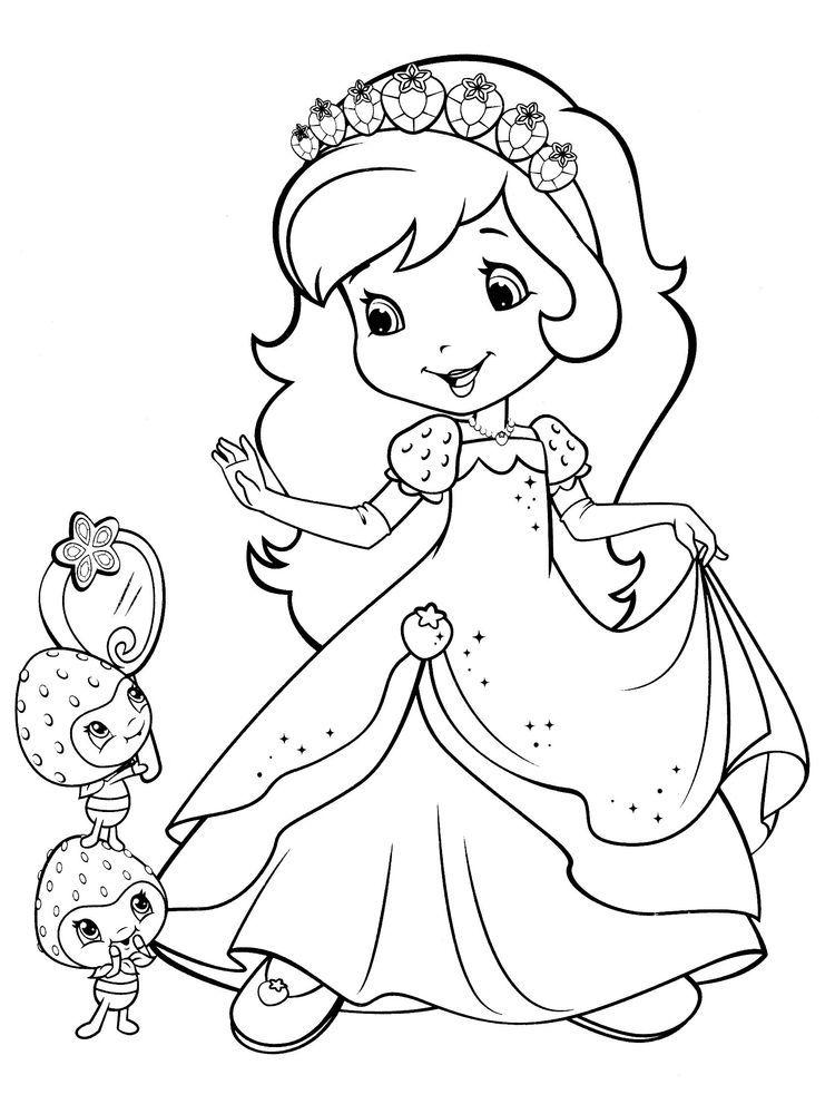 Strawberry Shortcake Coloring Pages Pdf Buku Mewarnai Lembar