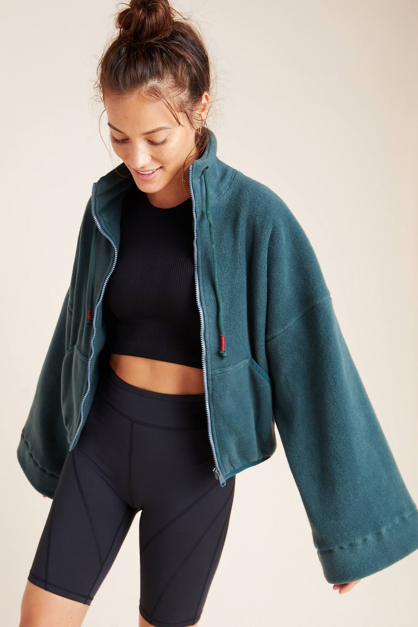 Free People Movement Climb High Fleece by in Grey Size: Xs, Women's Activewear at Anthropologie