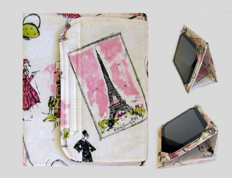 iPad Cover Hardcover iPad Case Cover Custom iPad iPad 2 iPad 3 Cover Pink Paris. $49.00, via Etsy.