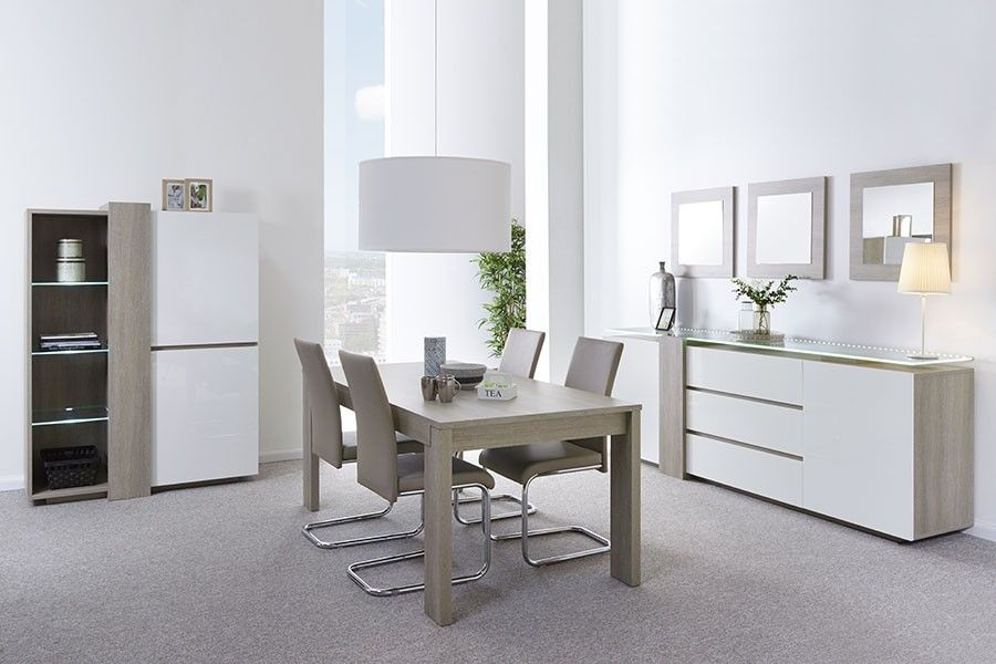 salle a manger grise meuble salle