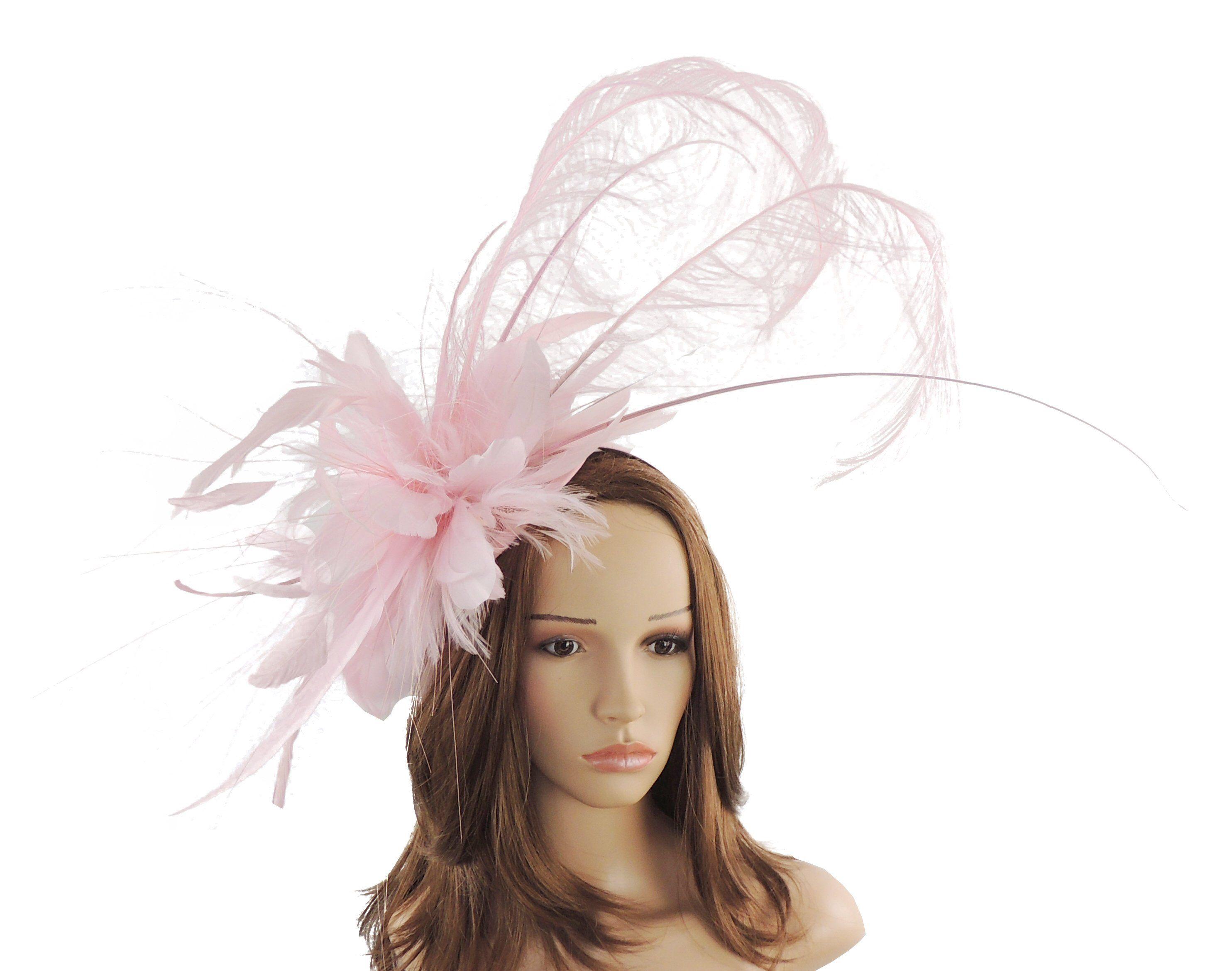 df2af284b4f32 Baby Pink Sophie Fascinator Hat for Kentucky Derby