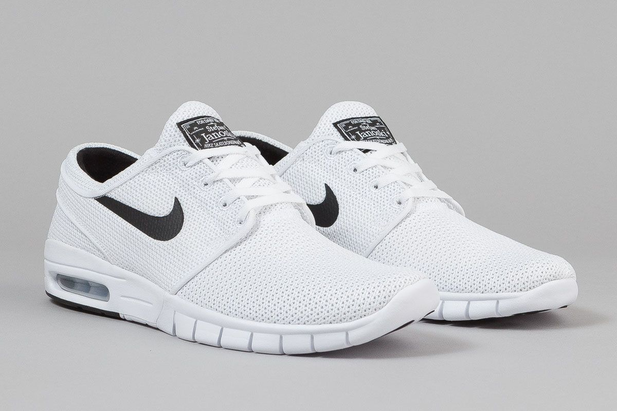 Nike Sb Stefan Janoski Max White Black Nike Shoes Women Nike Free Shoes Running Shoes Nike
