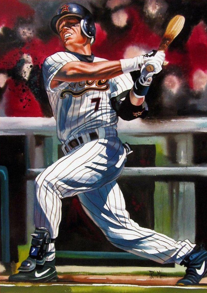 Baseball Art Craig Biggio By Richard L Marks Baseball