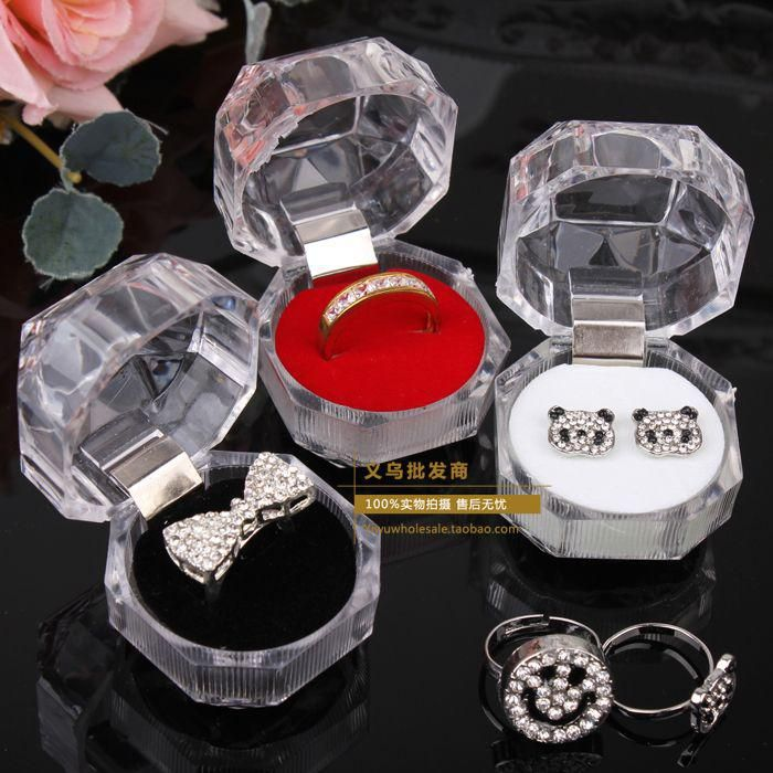 2019 Rings Box Jewelry Clear Acrylic Cheap Boxes Wedding Gift Box