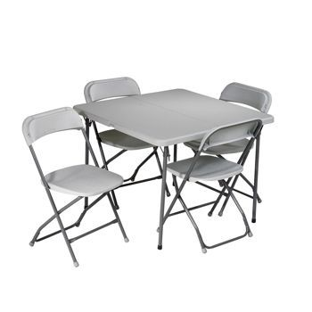 costco folding card table and chairs 5 pc set baby shower