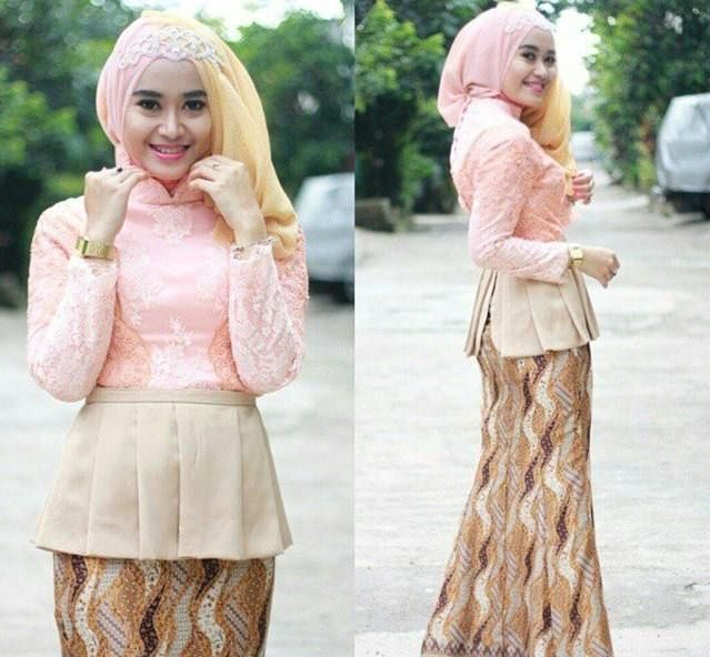 Model Kebaya Wisuda Warna Peach Model Kebaya Modern Pinterest