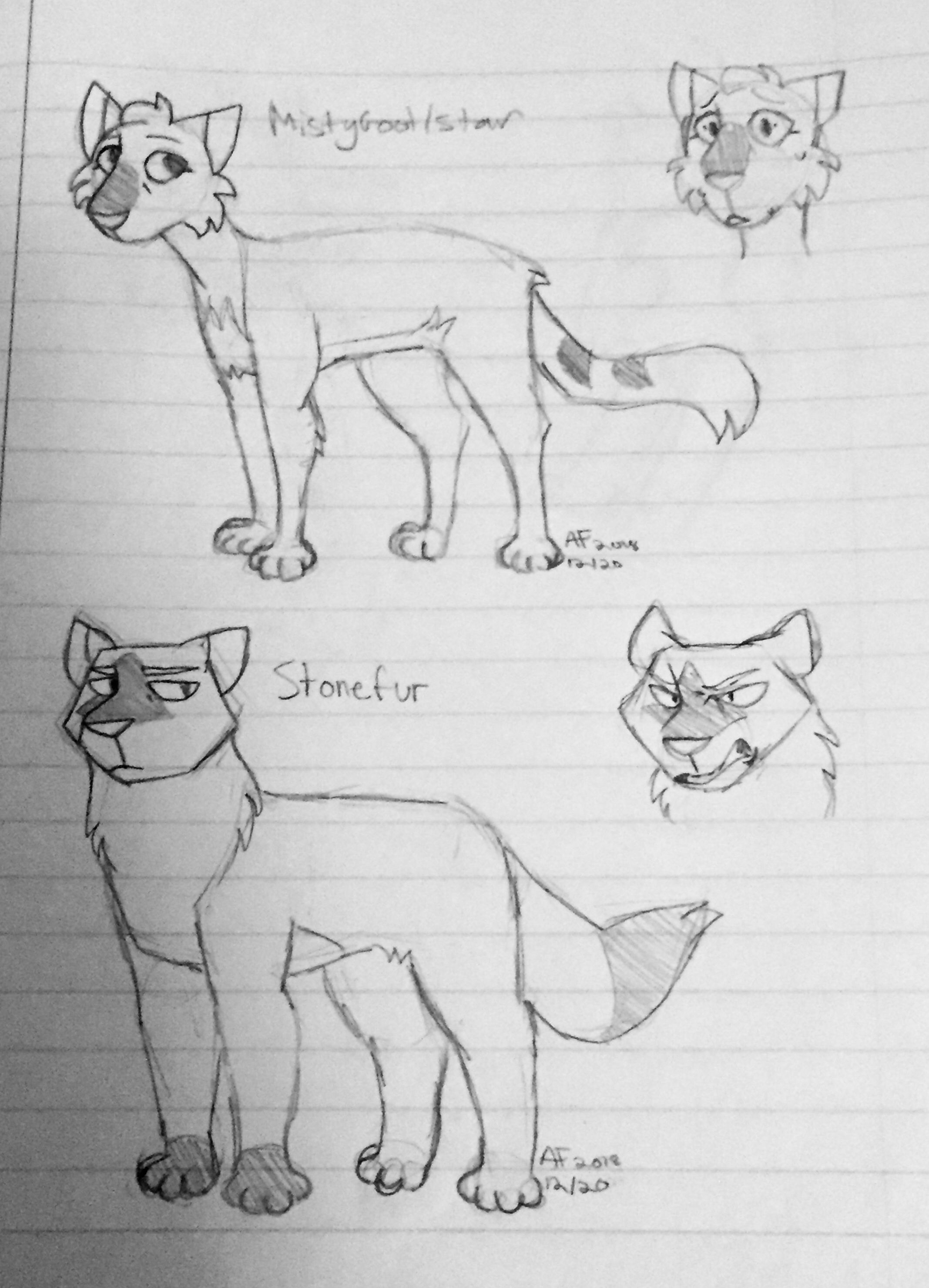 Mistystar And Stonefur Designs With Images Warrior Cats Fan